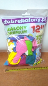 balon 100szt 12'' KOLOR MIX 40310/AS/M