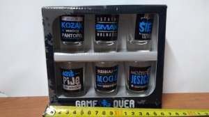 kieliszki 6szt GAME OVER  35ml.